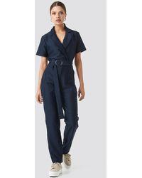 Trendyol Belted Jumpsuit - Blauw