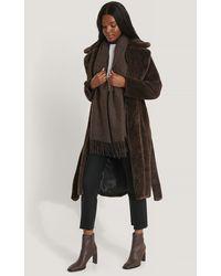 Rut&Circle Brown Sofia Faux Fur Coat - Multicolor