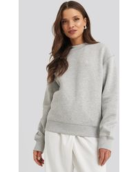 Calvin Klein Embroidery Regular Crew Neck Sweater - Grijs