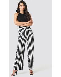 NA-KD Wide Striped Pants - Noir