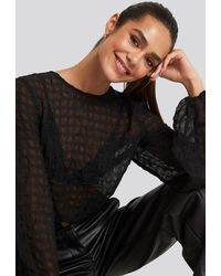 NA-KD - Boho Round Neck Structured Blouse - Lyst
