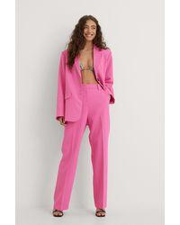 NA-KD Klassieke Pantalon - Roze
