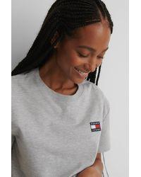 Tommy Hilfiger Tommy Badge T-shirt - Grijs
