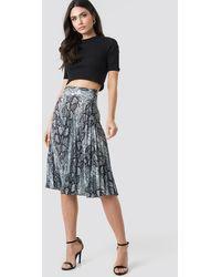 Trendyol Snake Pattern Pleated Skirt - Meerkleurig