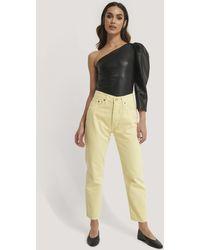Mango Yellow Havana Jeans
