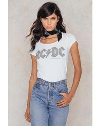 Amplified Acdc Ladies Logo T-shirt - White