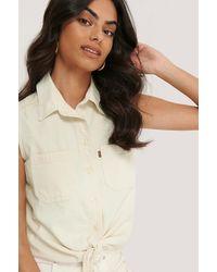 Levi's Offwhite Alina Tie Shirt - Multicolour