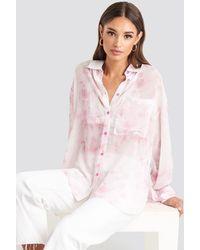 NA-KD Tie Dye Oversized Shirt - Roze