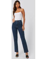 NA-KD Blue Twisted Seam Detail Jeans