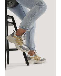 NA-KD Shoes Zig Zag Chunky Trainingsschuhe - Grau