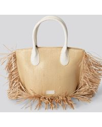 NA-KD Accessories Fringe Beach Bag - Natur