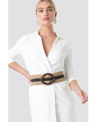 Mango Esperto Belt Beige - Natural