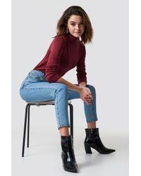 NA-KD - Highwaist Skinny Jeans Lt Blue - Lyst