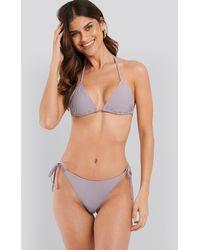 NA-KD Triangle Bikini Top Purple