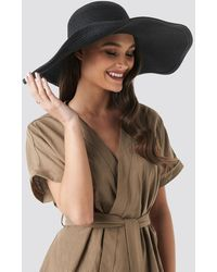 NA-KD Oversize Straw Hat - Zwart