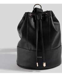 NA-KD Accessories One Strap Bucket Bag - Zwart