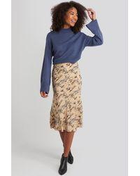 NA-KD Satin Skirt - Neutre