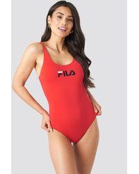 Fila Red Saidi Swimsuit X Na-kd