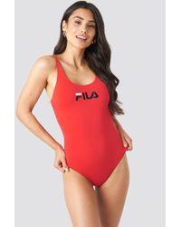 Fila - Saidi Swimsuit X Na-kd Red - Lyst