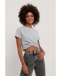 Trendyol Cropped T-shirt - Grijs