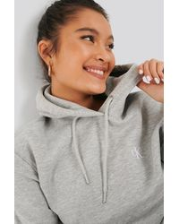 Calvin Klein Embroidery Hoodie - Gris