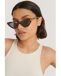 NA-KD Long Edge Cateye Sunglasses Multicolor - Brown