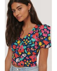 Trendyol Multicolour Flower Top