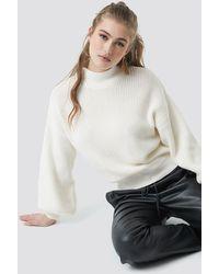 NA-KD Big Sleeve Knitted Sweater - Mehrfarbig