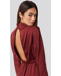 Trendyol Back Low-cut Midi Dress - Rood