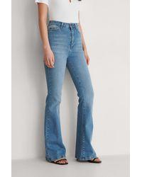 Trendyol Uitlopende Jeans Met Hoge Taille - Blauw