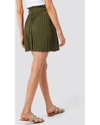 NA-KD Paper Waist Mini Skirt - Groen