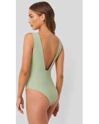 NA-KD Swimwear Badeanzug - Grün