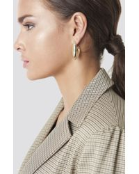 NA-KD - Structured V Earrings Gold - Lyst