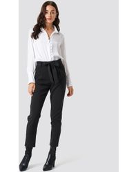 Glamorous - Culotte Belted Pants Black - Lyst