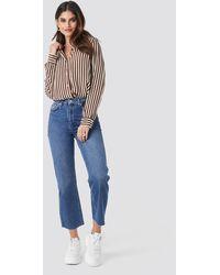 NA-KD - Raw Hem Straight Jeans - Lyst