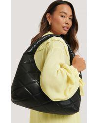 NA-KD Black Quilted Hobo Bag