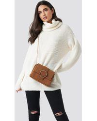 Mango - Coquet M Bag Brown Leather - Lyst