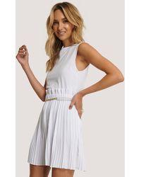 NA-KD Paper Waist Mini Skirt - Wit