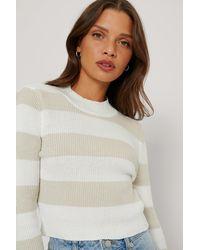 Trendyol Striped Crop Sweater - Mehrfarbig