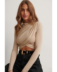 NA-KD Party Cropped Top - Naturel