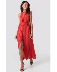 Trendyol Rope Suspender Maxi Dress - Rot