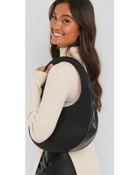 NA-KD Black Top Handle Moon Bag