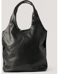 NA-KD Black Basic Hobo Bag