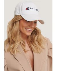 Champion Logo Baseball Cap - Weiß