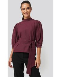 Trendyol Binding Detailed Blouse - Rood