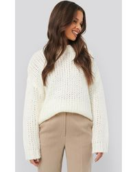 NA-KD Heavy Knitted Jumper White