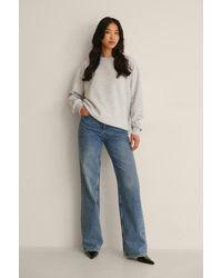 NA-KD Basic Organisch Oversized Sweater - Grijs