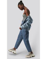 NA-KD Blue Cropped Balloon Leg Jeans