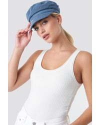 Tommy Hilfiger - Denim Baker Boy Hat Blue - Lyst