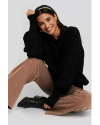 NA-KD - Trend Wool Blend Balloon Sleeve Sweater - Lyst